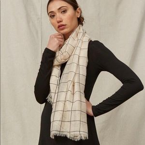 Rachel pally scarf, beige and black